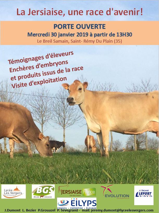 Porte ouverte – GAEC des Domaines 35 – Mercredi 30 Janvier 2019